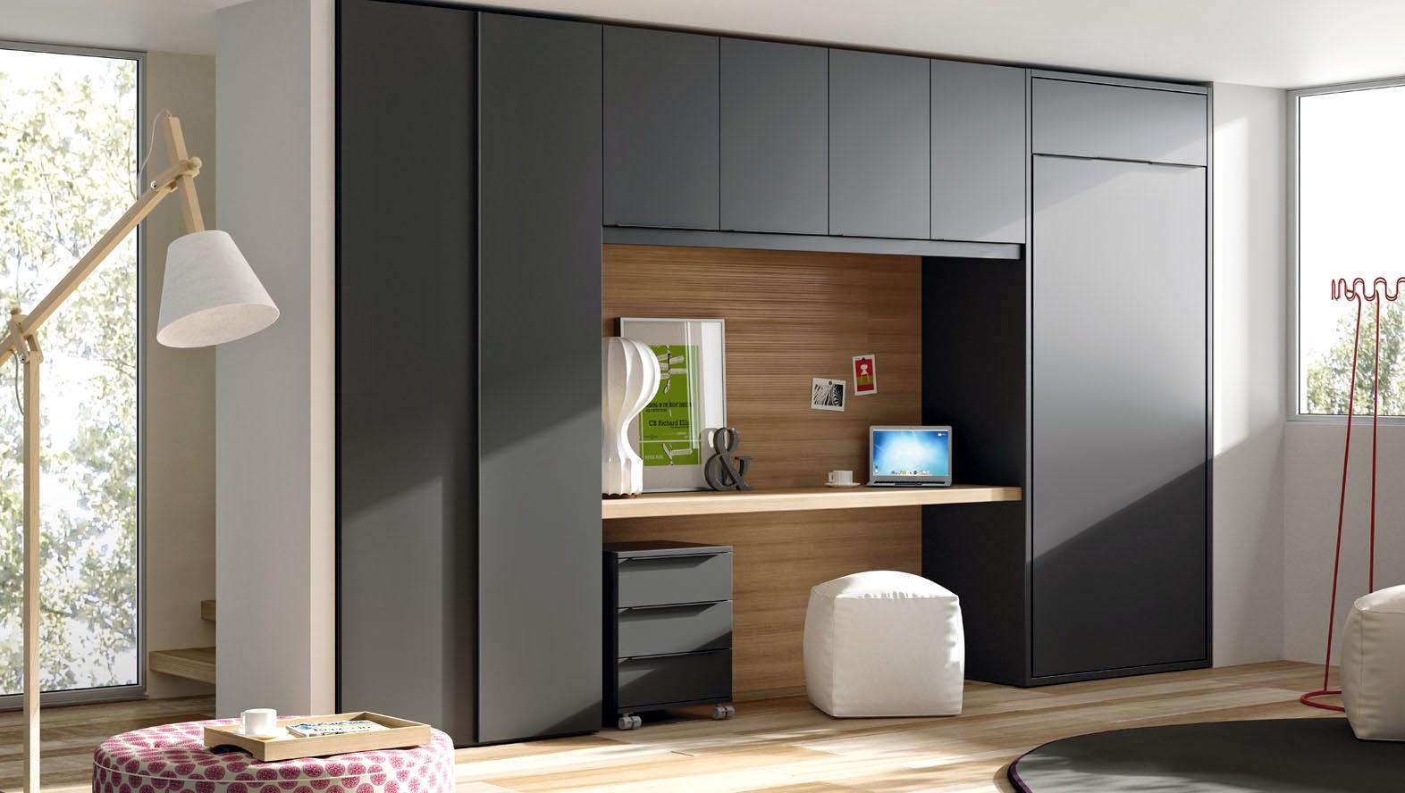Camas abatibles para uso diario for Cama oculta mueble