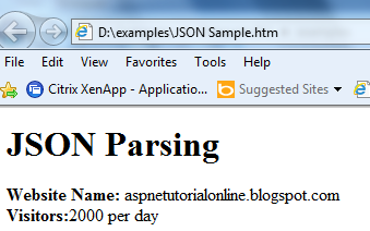JSON example code |JSON Parsing sample code