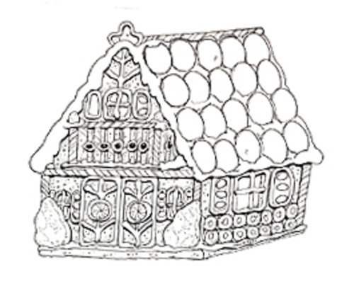 gingerbread house candy coloring pages - photo#36