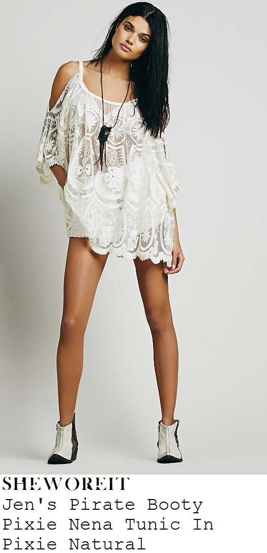 perrie-edwards-cream-embroidered-mesh-tunic-dress