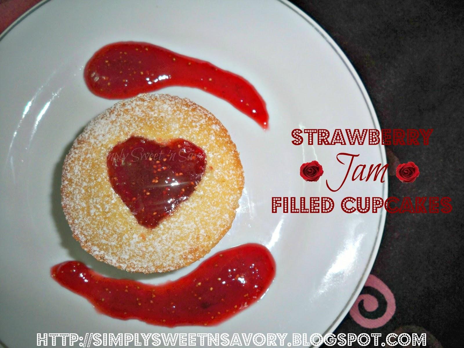 Strawberry Jam Cupcakes