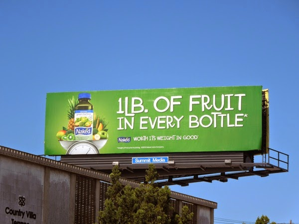 1lb fruit every bottle Naked Juice billboard