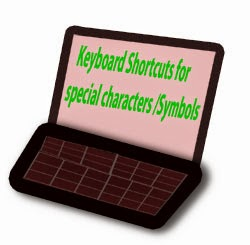Keyboard Shortcuts for special characters /Symbols, HTML Number Code, HTML Name Code, Glyph, MacOS characters /Symbols , Windows characters /Symbols,Keyboard Shortcuts
