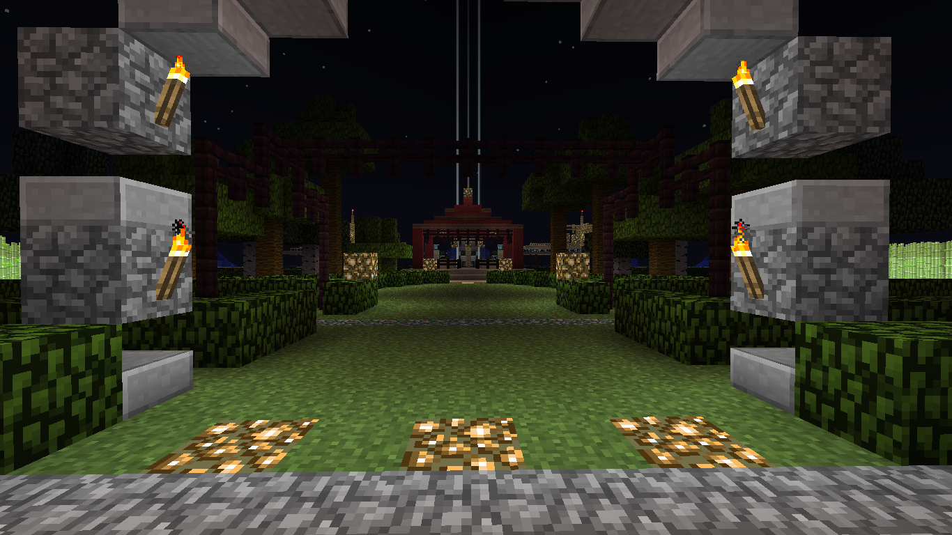 A brave new world new garden design created in minecraft d - Minecraft garden designs ...