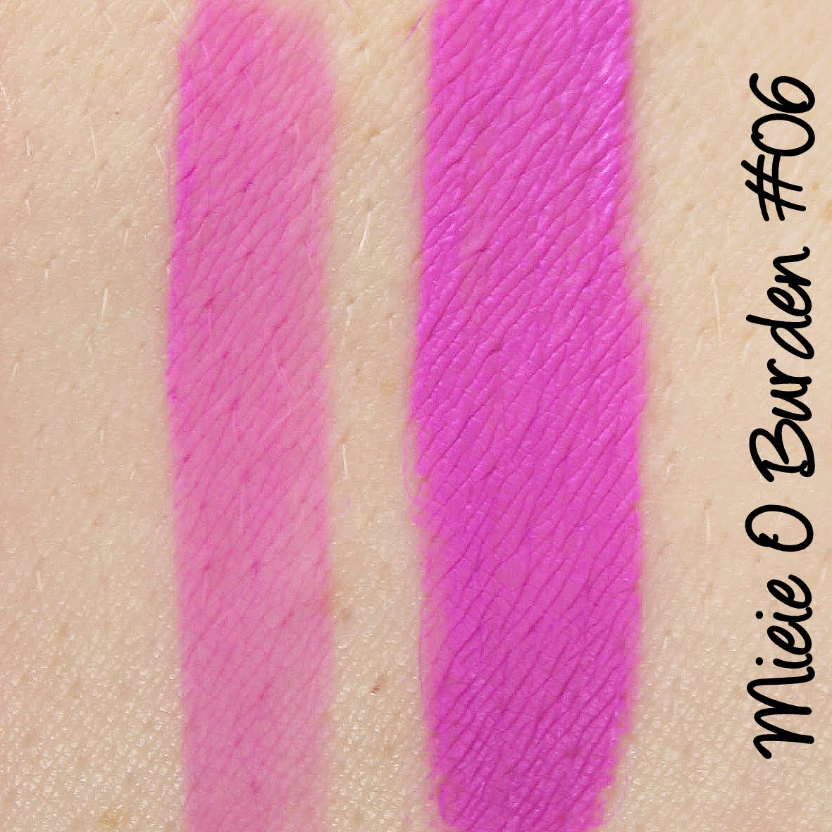 Miei O Burden Moisturizing Lipgloss #06 Swatches & Review