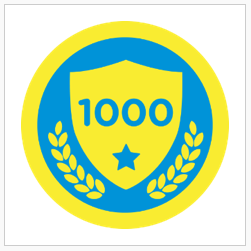foursquare Ten One Hundred badge, for a thousand checkins.