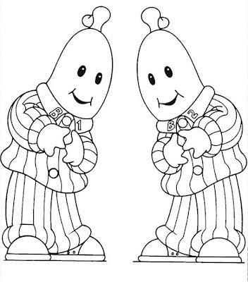 Desenho para colorir Bananas de Pijama