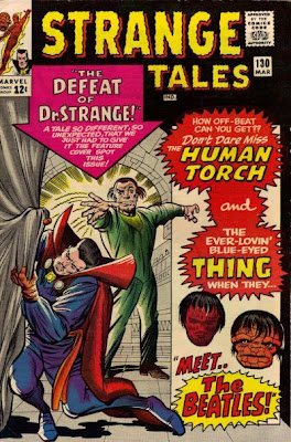 Strange Tales #130, Dr Strange defeated, the Thing in a wig