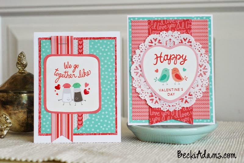 Easy Handmade Valentines by @jbckadams using supplies from @pebblesinc #cardmaking #handmadecards #Valentines