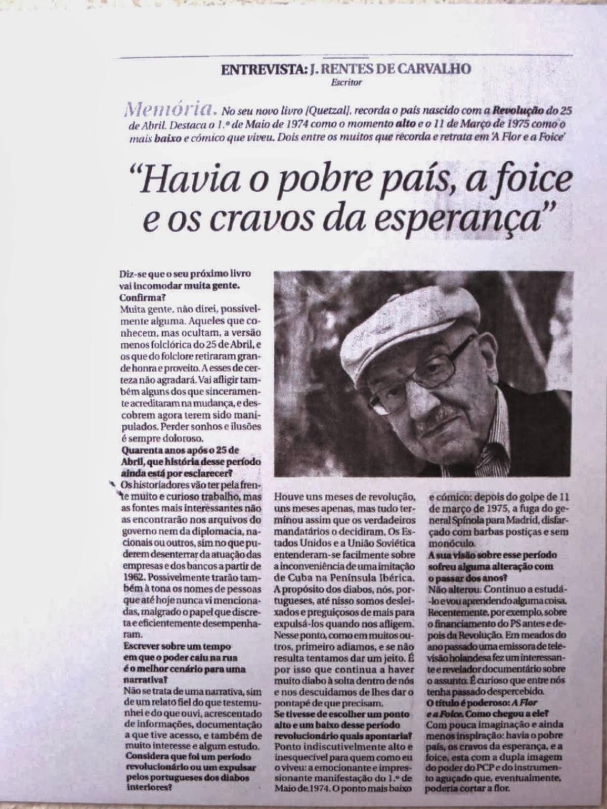 José Rentes de Carvalho Portugal a Flor e a Foice