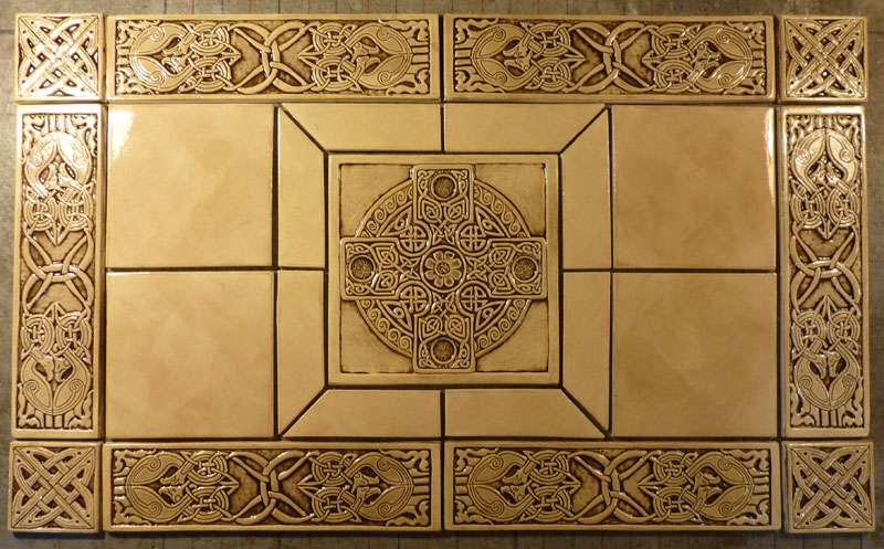 Decorative handmade ceramic tile: Handmade relief carved Celtic ...