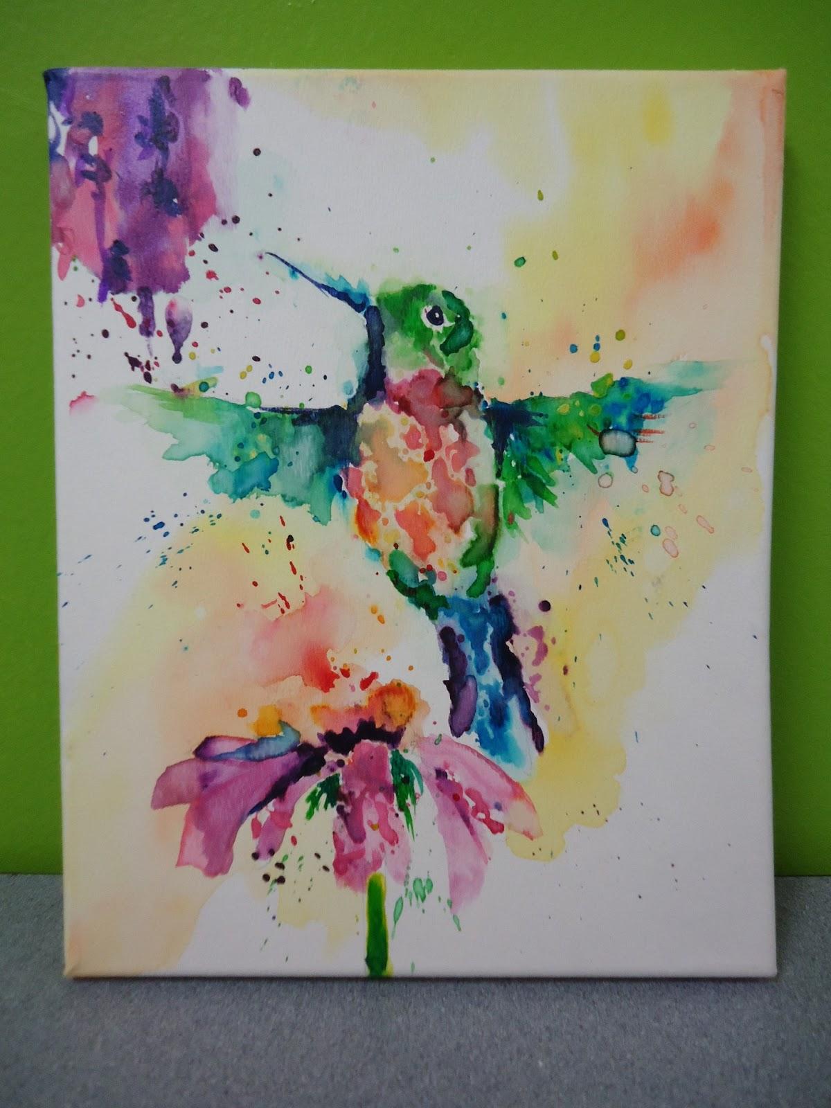 Mini Matisse Loose Watercolor Painting