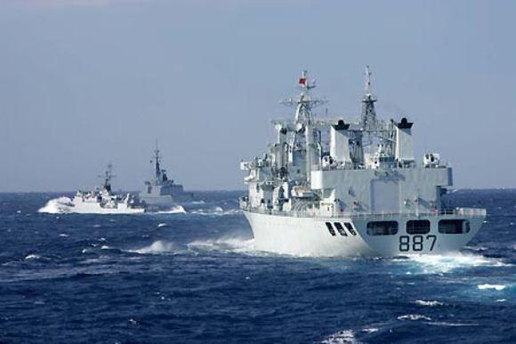 Latihan bersama Angkatan Laut China dan Perancis