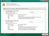 Kaspersky TDSSKiller - screenshot