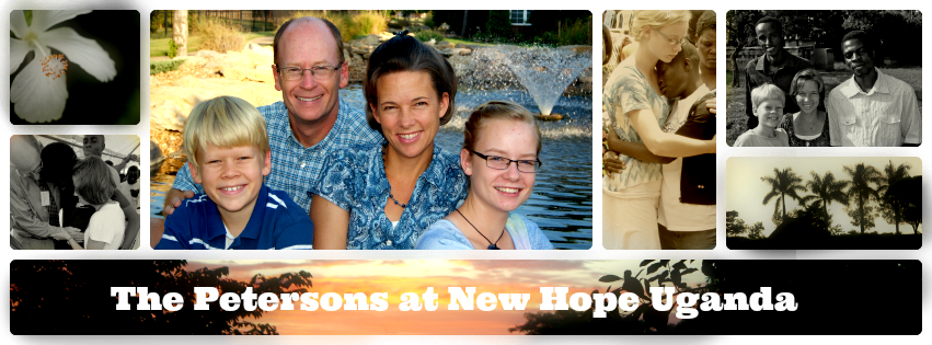 The Petersons at New Hope Uganda