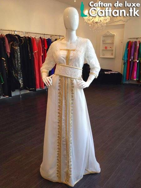 Caftan marocain blanc élégant 2014