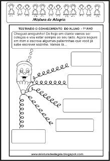 Atividade de volta às aulas- produção de texto