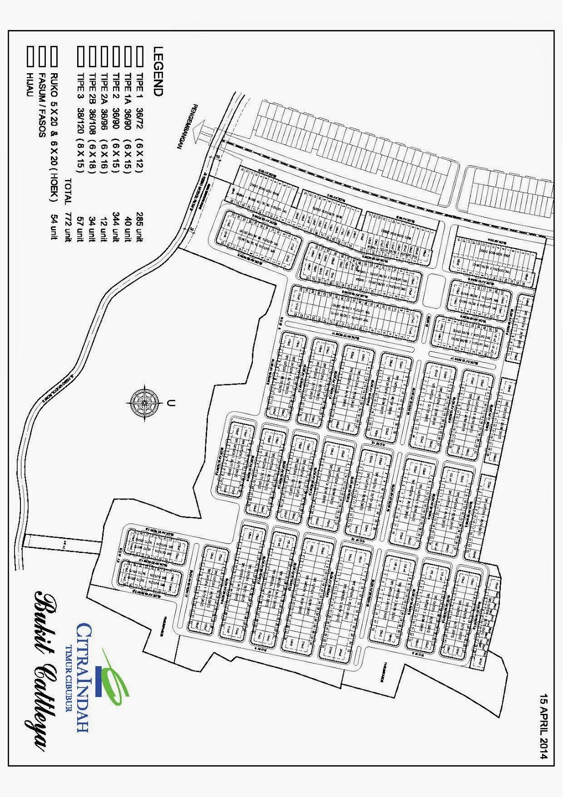 Citra Indah - Siteplan Bukit Cattleya