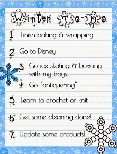 Winter Things to Do - Mrs. Spangler in the Middle