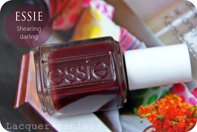 Essie Shearling darling + Wibo WOW effect matte glitters nr 2