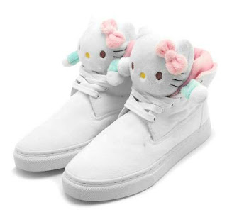 Hello Kitty white plush Sneakers soft toy shoes
