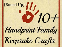 Craft Ideas Handprints on Art   Keepsakes Made With The Whole Family S Handprints Or Footprints