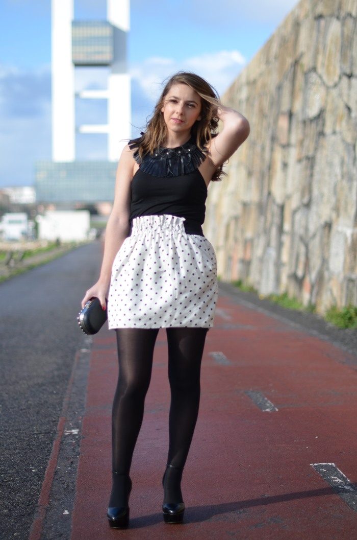 polka dots skirt