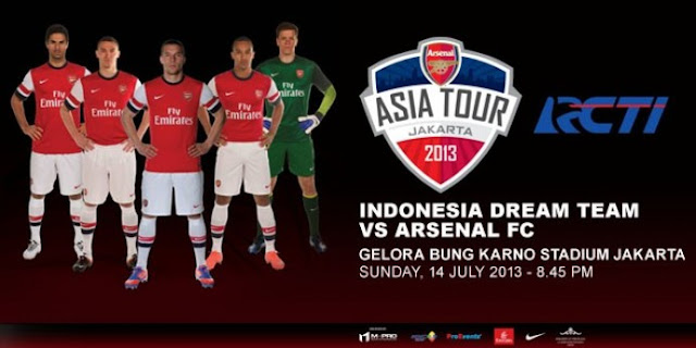 Timnas Indonesia vs Arsenal 2013 Tayang Jadwal Pertandingan Timnas Indonesia vs Arsenal 2013, Siaran Langsung RCTI
