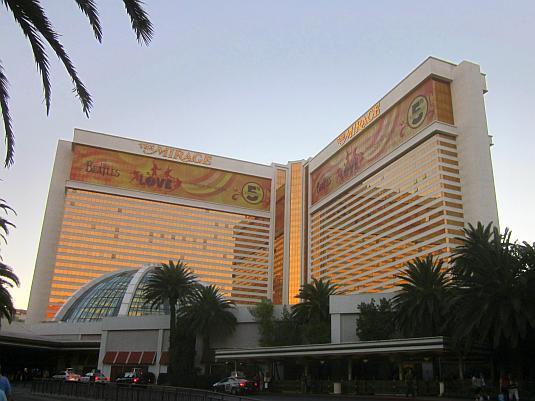 Mirage Casino, Las Vegas, Sunset