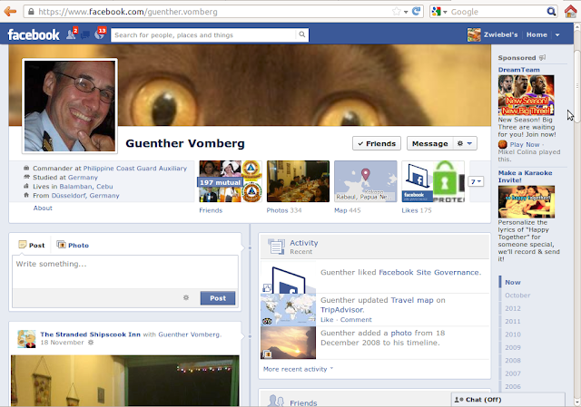 Guenther Vomberg real facebook Page