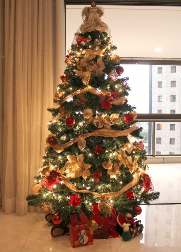decoracao arvore de natal vermelha e dourada : decoracao arvore de natal vermelha e dourada:Mundo de Cissa: Árvores de natal