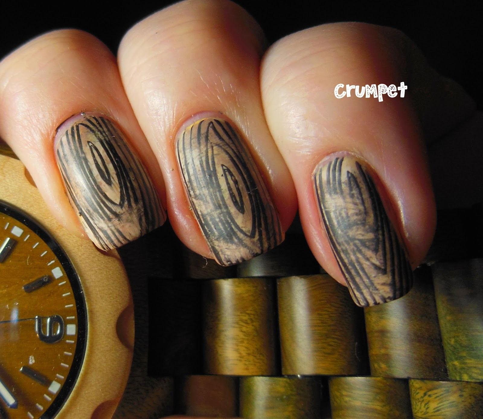 Jord wood watch nail art and giveawaaaaaaaaaaaaaaaaay the im quite pleased with the overall result and the matte top coat really made them look like wooden nail wraps prinsesfo Image collections
