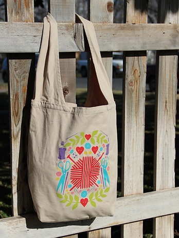 RAVELRY NOTIONS SLING TOTE