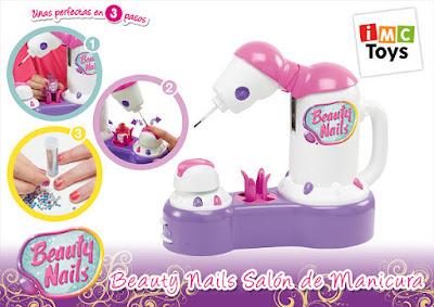 TOYS : JUGUETES - BEAUTY NAILS Salón de manicura | Pinta uñas para niñas Producto Oficial 2015 | IMC Toys 94895 | A partir de 3 años Comprar en Amazon España