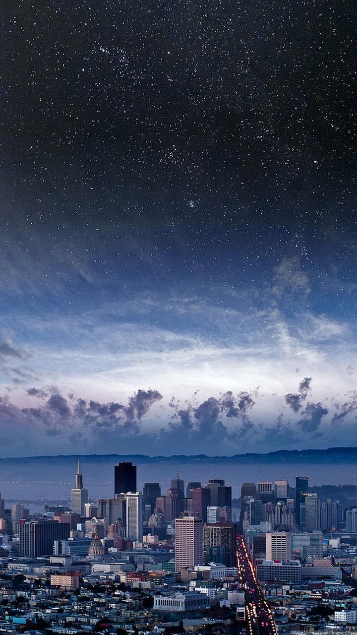 Фото американского города обои 720x1280