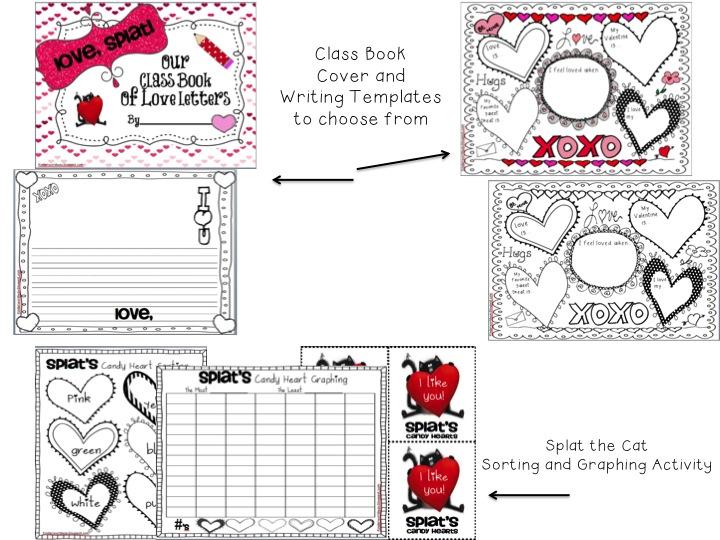 Kinderworld valentines with splat the cat valentines splat the cat kit on tpt maxwellsz