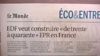 EdF veut construire de 30 à 40 EPR