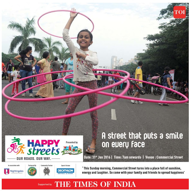 Happy Streets family fun event on Sunday 31st January 2016 @Bangalore