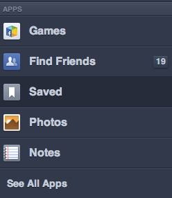 facebook feeds save option