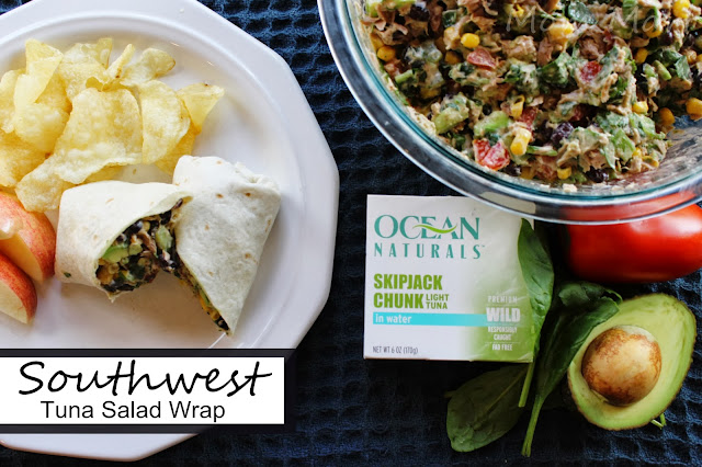 Southwest Tuna Salad Wrap or dip #OceanNaturals #shop #Recipe