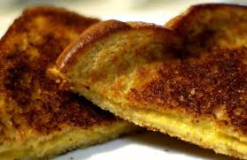 grilled cheese sandwich with bread grilled to perfection