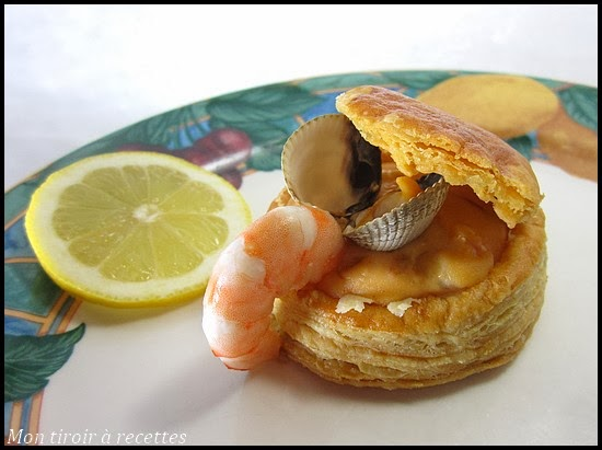vol-au-vent fruits de mer