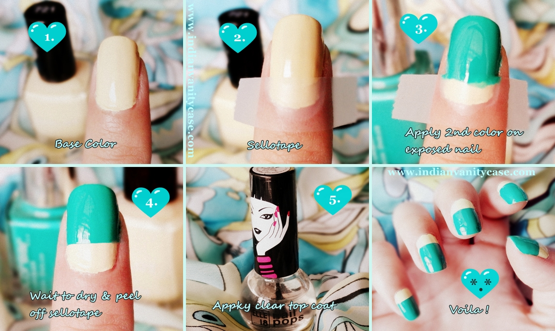 Nail art using sellotape gallery nail art and nail design ideas indian vanity case easy geometrichalf moon nails tutorial easy geometrichalf moon nails tutorial prinsesfo gallery prinsesfo Gallery