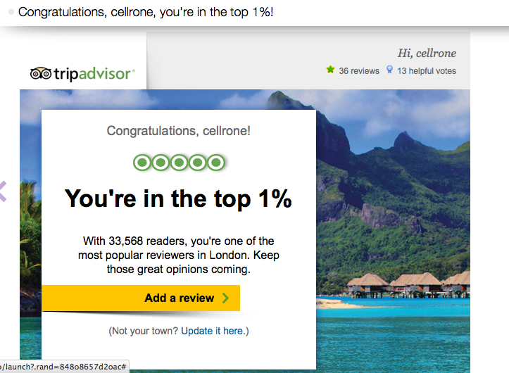 We're trending on Trip Advisor!