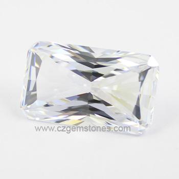 rectangular radiant cut cubic zirconia stones