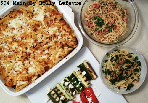 big family dinner Italian style