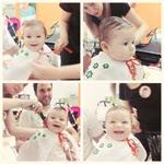 Primer corte de pelo del bebé / Primeiro corte de cabelo do bebê
