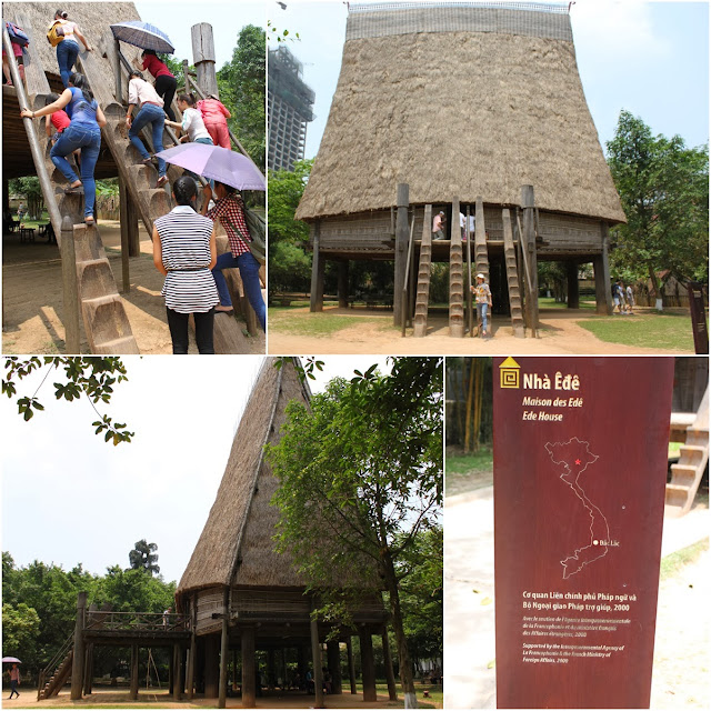 Bahnar communal house with the height of 19 meters was built in 2003 by 42 villagers from Kon Rbang village at Museum of Ethnology in Hanoi, Vietnam
