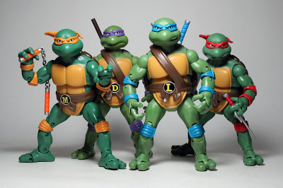 Playmates Classic Teenage Mutant Ninja Turtles figures