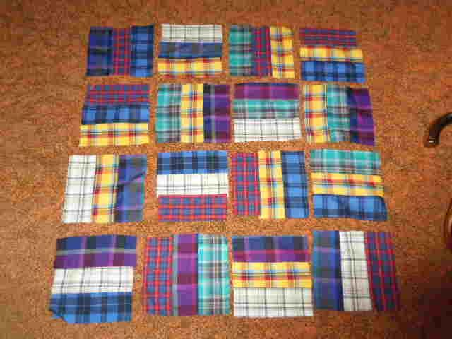 Patra's Place of Stitching and Vintage Linens: Tartan blocks for ... : tartan patchwork quilt - Adamdwight.com
